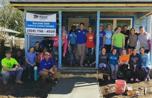 DeSales Students Help Build House for Habitat for Humanity